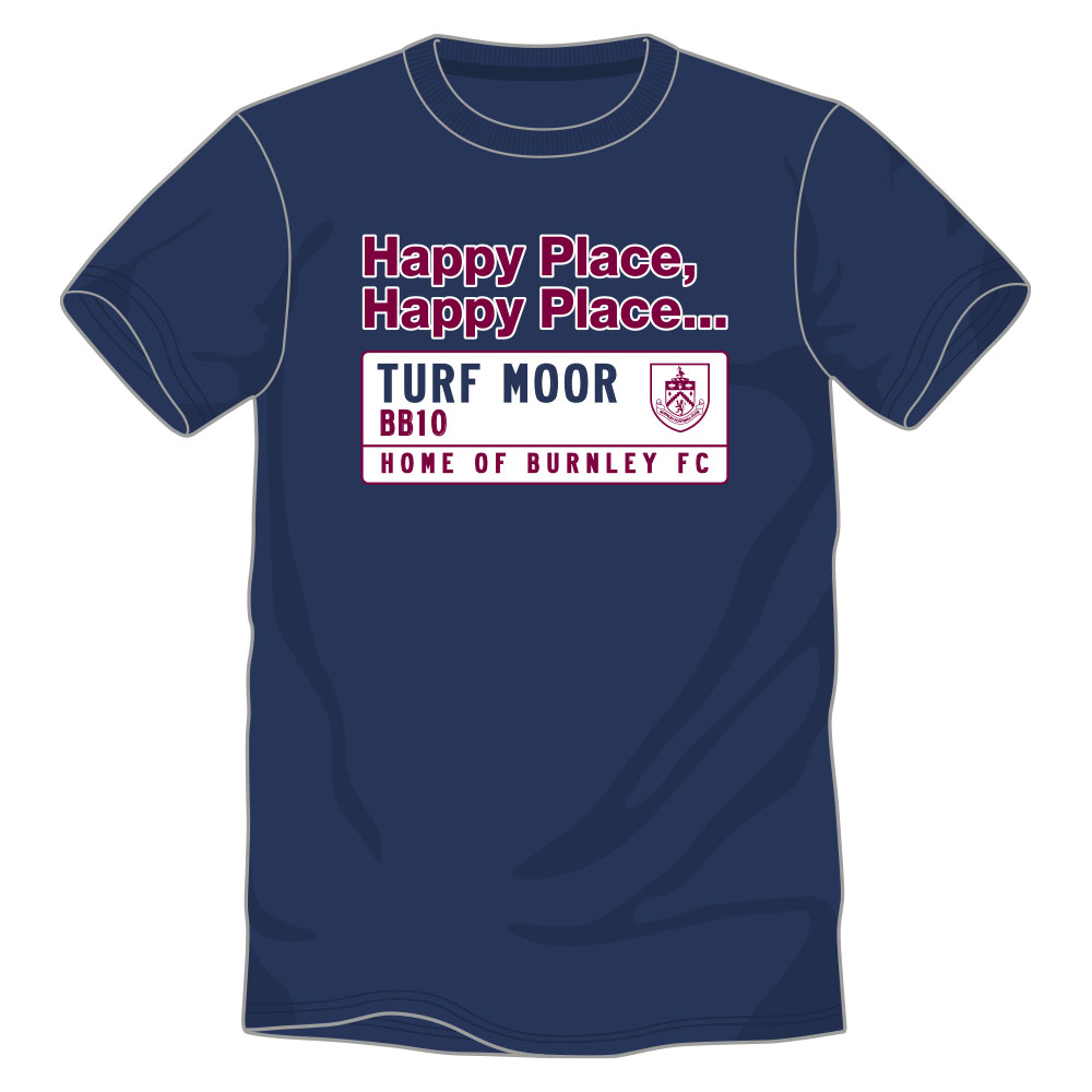 Buy the happy place navy street sign t-shirt