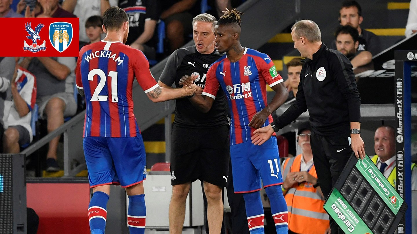 Wilfried Zaha subbed on Colchester United.jpg