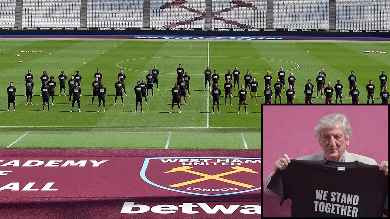 Hodgson West Ham friendly stand together.jpg