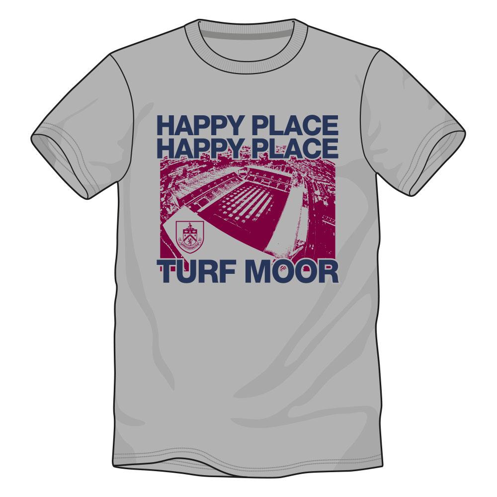 Buy the happy place grey stadium t-shirt
