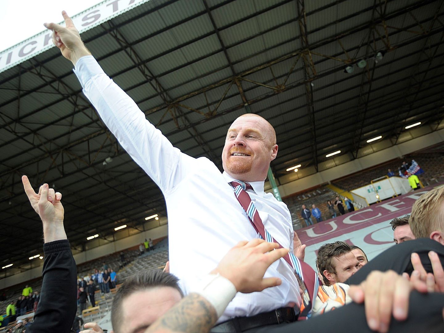 Sean Dyche steers Burnley back into the Premier League
